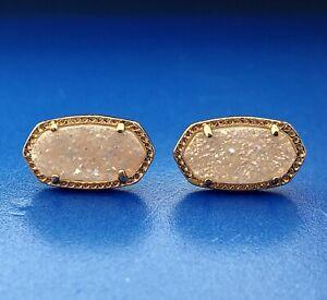 Kendra Scott Rose Gold Tone Druzy Fashion Costume Stud Earrings
