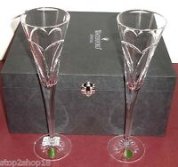 Waterford Crystal Love & Romance Champagne Flute Pair Made in Italy #139903 New