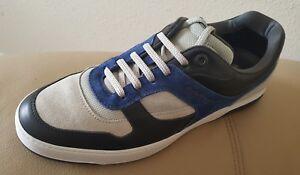 Salvatore Ferragamo Suede & Leather Men's Sneakers, Size US 10 EE Nwt $ 699