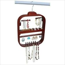 Wooden Jewelry Necklace Earring Rack Hanging Hanger Organizer for Closet