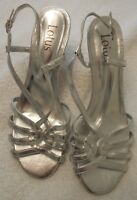Ladies silver Size 5 Lotus Sling Back Shoes With Side Buckle Fast