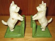 New Heavy Cast Iron Standing Scotty Dog Scottish Terrier Bookends Book Ends