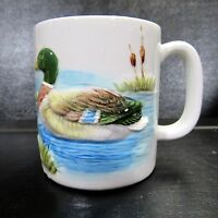 Vintage Otagiri Duck 3D Embossed Coffee Mug Cup Japan Hand Crafted