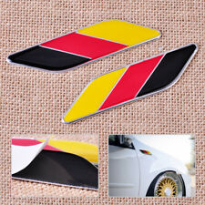 1 Pair Aluminum 3D Germany Flag Emblem Badge Sticker Decal Decor Fits Car Auto