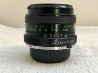Vivitar 24mm f2.8 Prime Manual Focus Lens For Minolta MD Mount