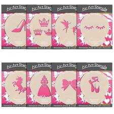 Stencils For Cake and Craft - Girly Theme - Unicorn Shoes and Princess Designs