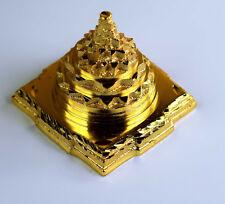 MERU SHREE YANTRA FOR VASTU CORRECTION & PROSPERITY GOLD PLATED ENERGIZED