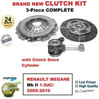 FOR RENAULT MEGANE Mk II 1.5dCi 2005-2010 BRAND NEW 3-Piece CLUTCH KIT with CSC