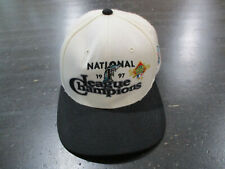 VINTAGE New Era Florida Marlins Snap Back Hat Cap White 1997 World Series 90s A4