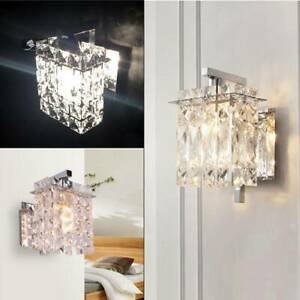 K9 Crystal Wall Light Aisle Sconce Wall Lamp Classical Bedside  Include LED Lamp