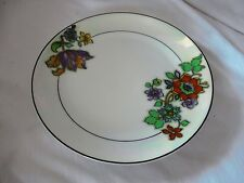 ZS & Co Zeh Scherzer opalescent band plate with flowers art deco Bavaria