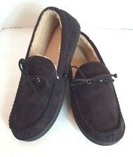 Isotoner Signature Black Moccasin Memory Foam Moccasin Slippers Mens XXL 13-14