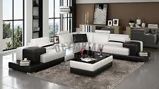 Modern Large LEATHER SOFA Corner Suite NEW White Black Settee Designer