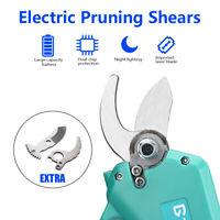 30mm Electric Pruning Shears Pruner Trimmer Tool Garden Branch Grafting w/ Blade