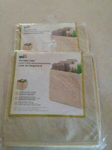 Honey Can Do Kids Padded Storage Cube, Tan - LOT OF 2