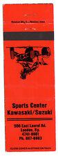 Sports Center MOTORCYCLE Kawasaki SUZUKI London KY Vintage Matchbook ATV Quad