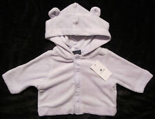 Baby Gap NWT Lavender Terry Ear Hoody Sweatshirt Jacket Newborn up to 7 lbs. $27