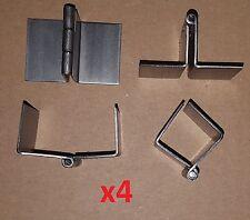 4 pc .062 Steel 90° Formed/Bend Butt Hinge 1.5 Continuous Door/Sheet Metal/Wood