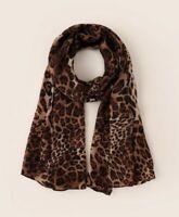 NEW leopard Print Black/Brown/camel Scarf Ladies Womens Shawl Sarong Gift UK