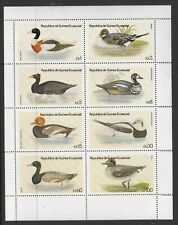 EQUATORIAL GUINEA 1978 BIRDS (DUCKS) SHEETLET OF 8 NEVER HINGED MINT