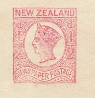 New Zealand ½d QV newspaper stamp wrapper unused