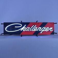 "Dodge Challenger Junior Car Sale Garage Banner Neon Light Sign 28"" by 9"""