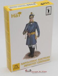 HaT 8328 Napoleonic Austrian Command 1/72 Scale. Plastic toy soldiers.