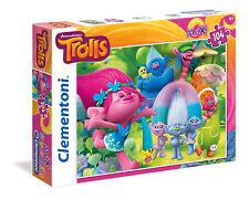 Clementoni Kinderpuzzle 104 Teile Maxi Trolls: Gute Zeiten (23981)
