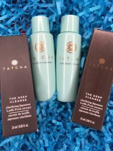 2x TATCHA Deep Cleanse Cleanser .85oz Each, Deluxe Travel Size - NEW in Box!
