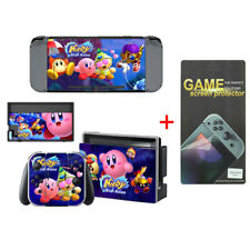 Kirby Game Vinyl Cover Skin Stickers for Nintendo Switch with screen Protector