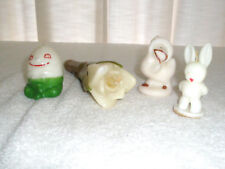 Lot 4 Vintage Candles Easter Bunny Chick Humpty Dumpty Tulip Tavern