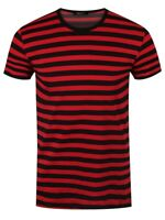 Black and Red Striped T-Shirt