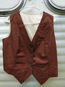 Beautiful bronze copper gold Saddleseat Vest sz