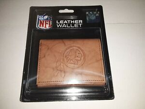 Washington Redskins Embossed  Leather Tri-Fold Men's Wallet By Rico
