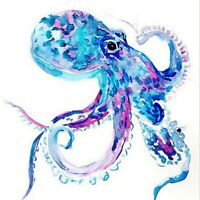 5D DIY Full Drill Diamond-Painting Embroidery Blue Octopus Kits Art Decor Gifts