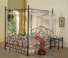Black Metal Sunburst Canopy Bed Full Size (Bed) Frame
