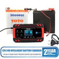Voiture Chargeur de Batterie Intelligent régénérateur démarreur 4A 8A 12V/24V EU