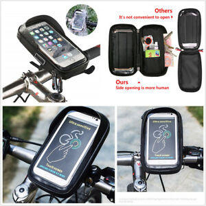 Removable Motorcycle Handlebar Phone GPS Mount Holder Storage Pouch Waterproof