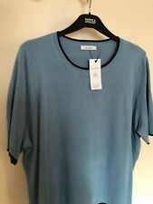M&S Size 20 Short Sleeve Ladies Jumper In Blue, Marks And Spencer Ladies Top