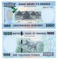 UNC RWANDA 1000 Francs (2015) P-39