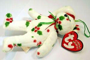 "TY Jingle Beanies ""1998 Holiday Teddy "" 2001 tag date New star bear"