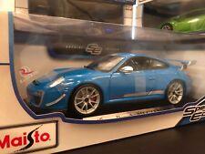 Maisto 1:18 Scale Special Edition Diecast Model Car - Porsche GT3 RS 4.0 (Blue)