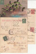 Lot 5 cartes postales timbrées timbres TUNISIE TUNISIA  5 c 10 c 1905 1902 1911