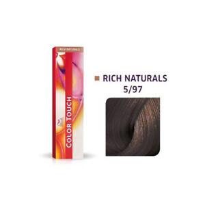 NEW Wella Colour Touch 5/97 - Light Brown/Cendre Brown 60g Demi Permanent Color