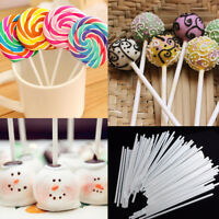 100Pcs Cake Sticks Lollipop Lollies Crafts Paper Sweets Stick DIY Decor