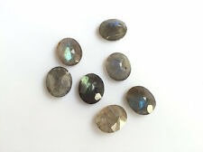 5 Pieces Calibrated Oval Labradorite Gemstones Loose Cabochons 12x10mm Each -L1