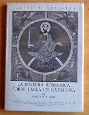 Pintura Romanica Sobrea Tabla en Cataluna Cook Artes Artistas Iconography 1960