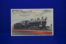 1949 World's Fastest Locomotive Run Postcard PRR No. 7002 Pennsylvania RR