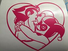 Suicide Squad Harley Quinn Love Joker Full Heart Decal Sticker Batman Dead shot