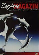 Programm UEFA CL 2004/05 Bayer Leverkusen - Real Madrid